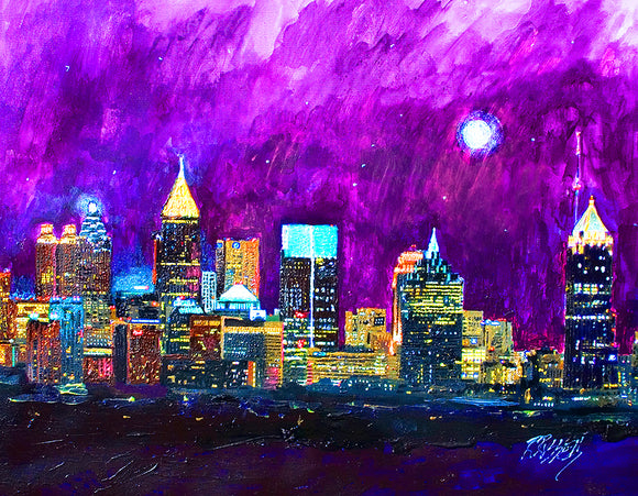 Atlanta Skyline by artist Richard Russell