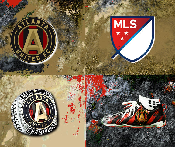 Atlanta United Logos by artist Richard Russell
