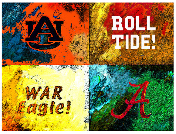 A House Divided Auburn / Alabama Logos