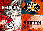 A House Divided Auburn / Georgia Logos