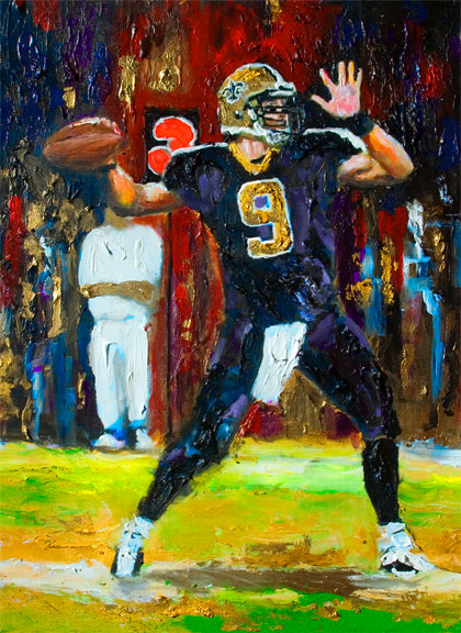 Drew Brees by artist Richard Russell