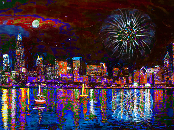 Chicago Reflections by artist Richard Russell