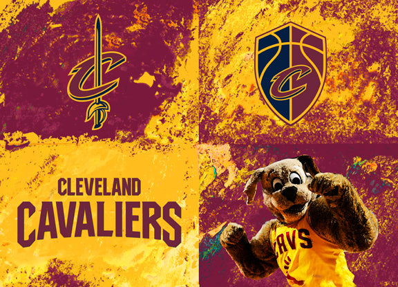 Cleveland Cavaliers Logos by artist Richard Russell