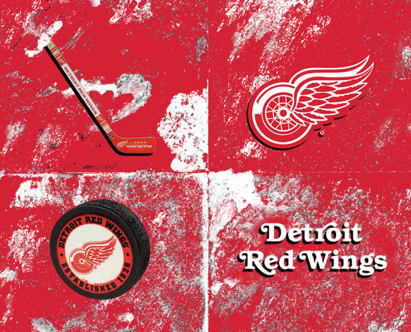 Detroit Red Wings Logos by artist Richard Russell