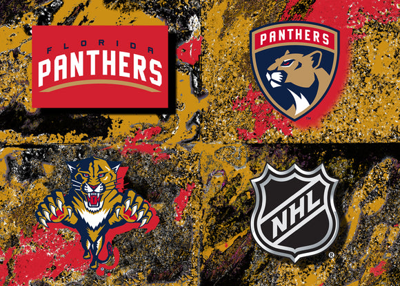 Florida Panthers Logos by artist Richard Russell