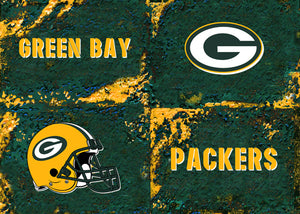 Green Bay Packers Logos by artist Richard Russell