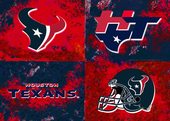 Houston Texans Logos by artist Richard Russell