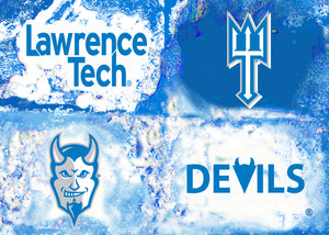 Lawrence Tech Logos by artist Richard Russell