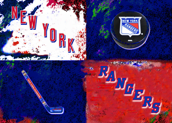 New York Rangers Logos by artist Richard Russell