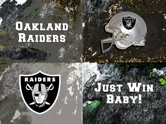 Oakland Raiders Logos by artist Richard Russell