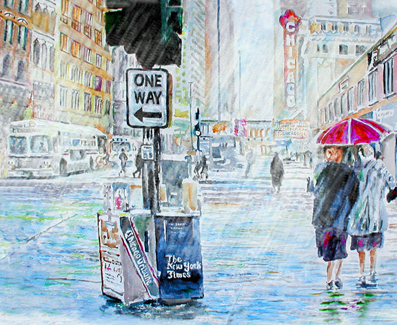 One Way - Chicago painting by artist Richard Russell