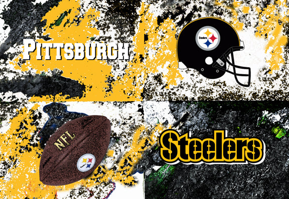 Pittsburg Steelers Logos by artist Richard Russell