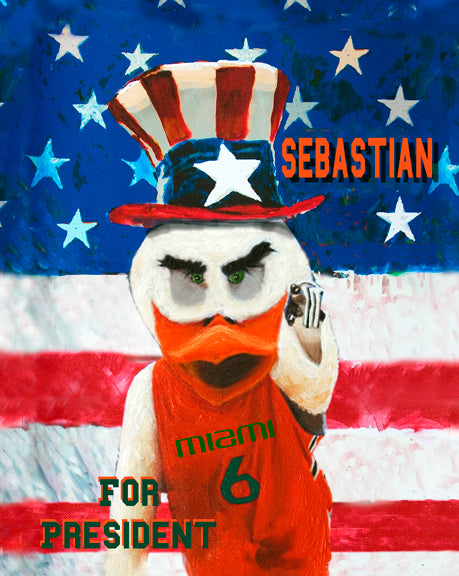 Sebastian for President by artist Richard Russell