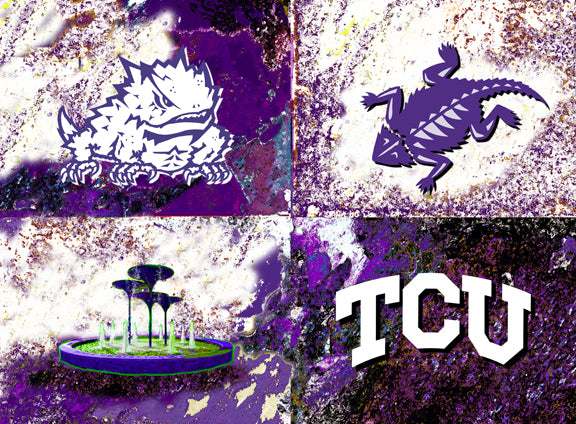 TCU Logos by artist Richard Russell