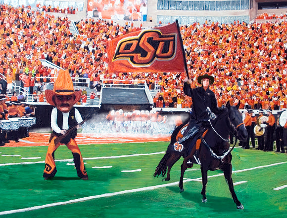 Oklahoma State  Pistol Pete and Spirit Rider