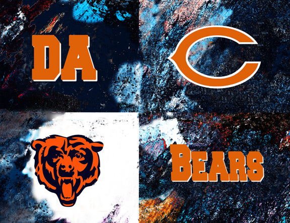 Chicago Bears Logos by artist Richard Russell