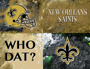 New Orleans Saints Logos by artist Richard Russell