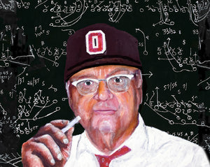 Woody Hayes by artist Richard Russell