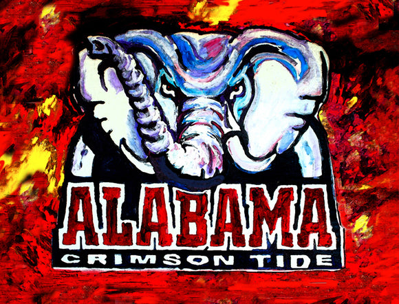 The Crimson Tide - University of Alabama by artist Richard Russell