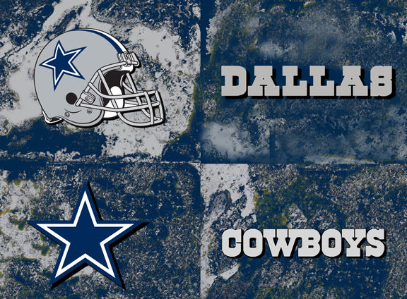 Dallas Cowboys Logos by artist Richard Russell