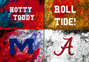 A House Divided - Ole Miss / Alabama by artist Richard Russell