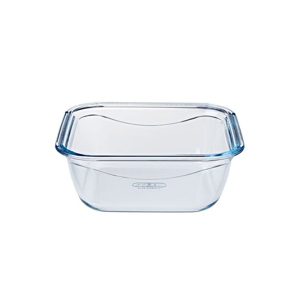 PLAT CARRÉ COOK/GO TRANSPARENT 16CM