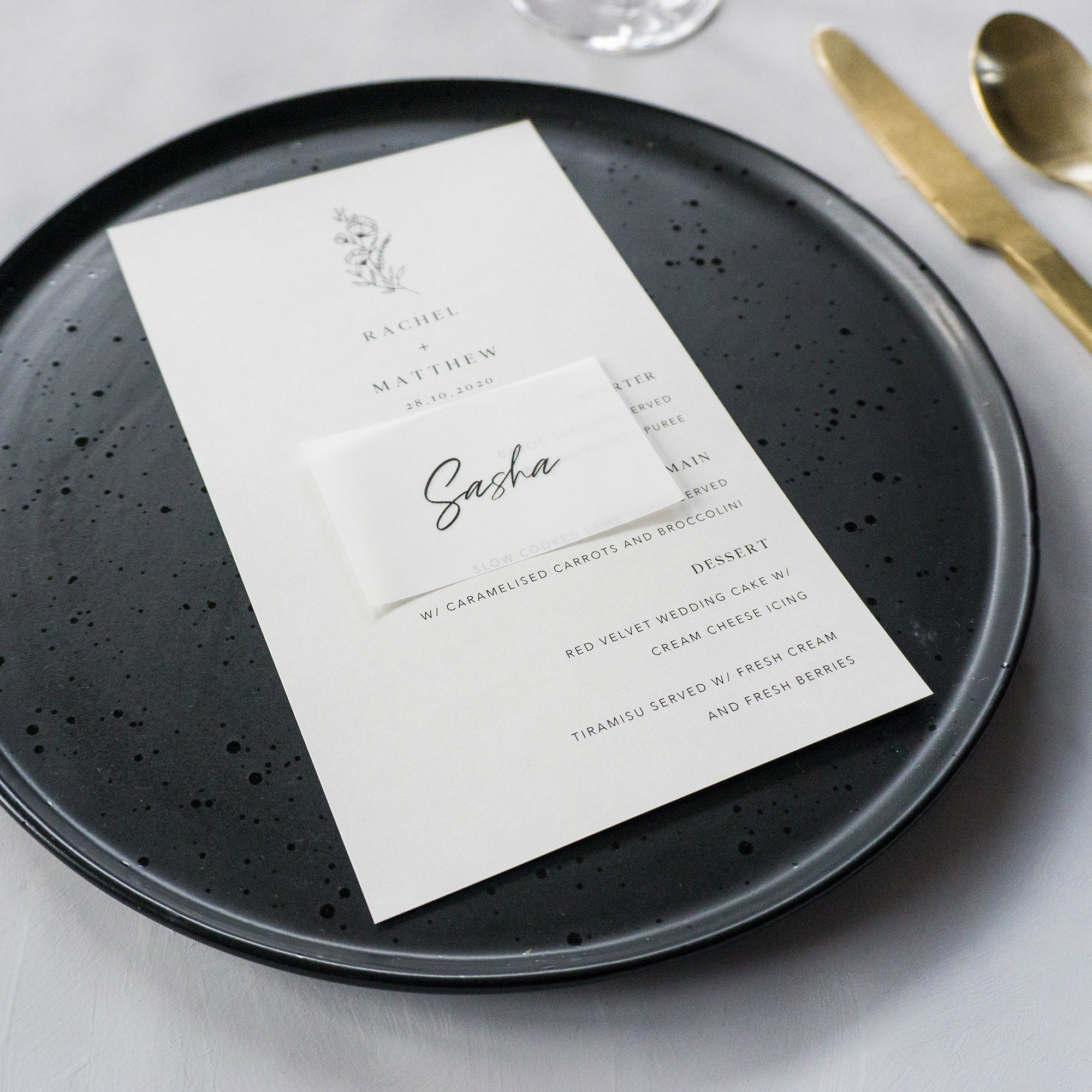 Rectangle & Flat place card