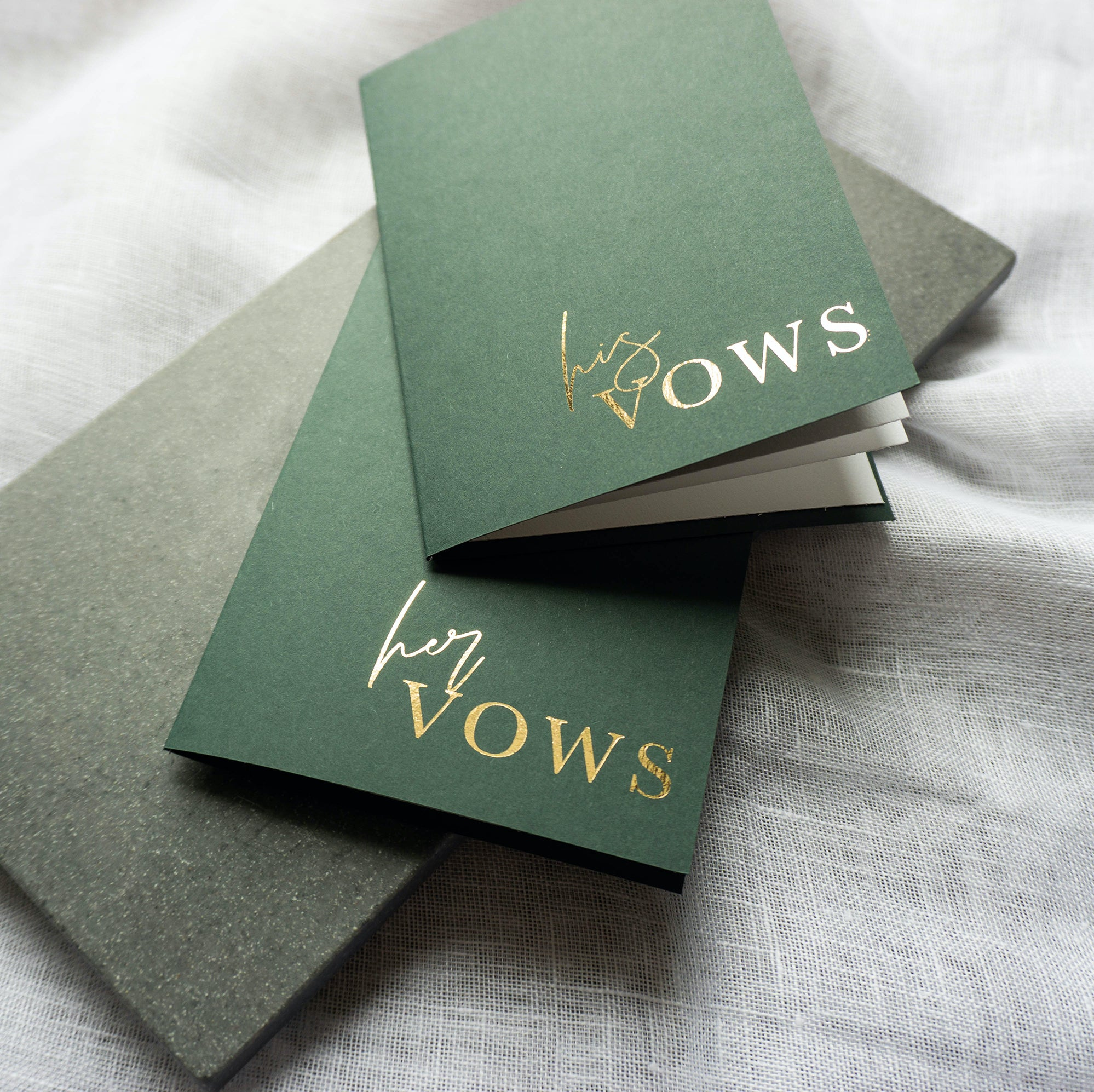 Green & Gold Vow Book set