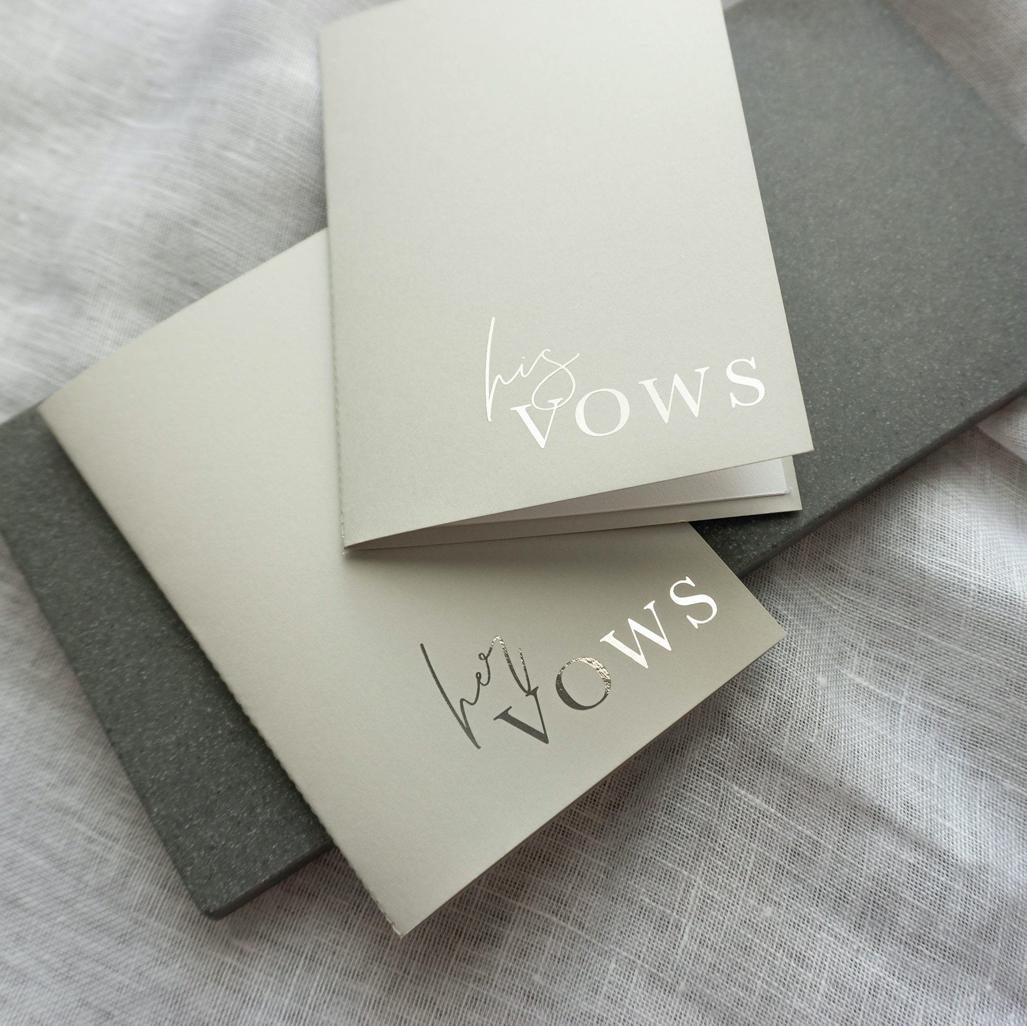 Grey & Silver Vow Book set