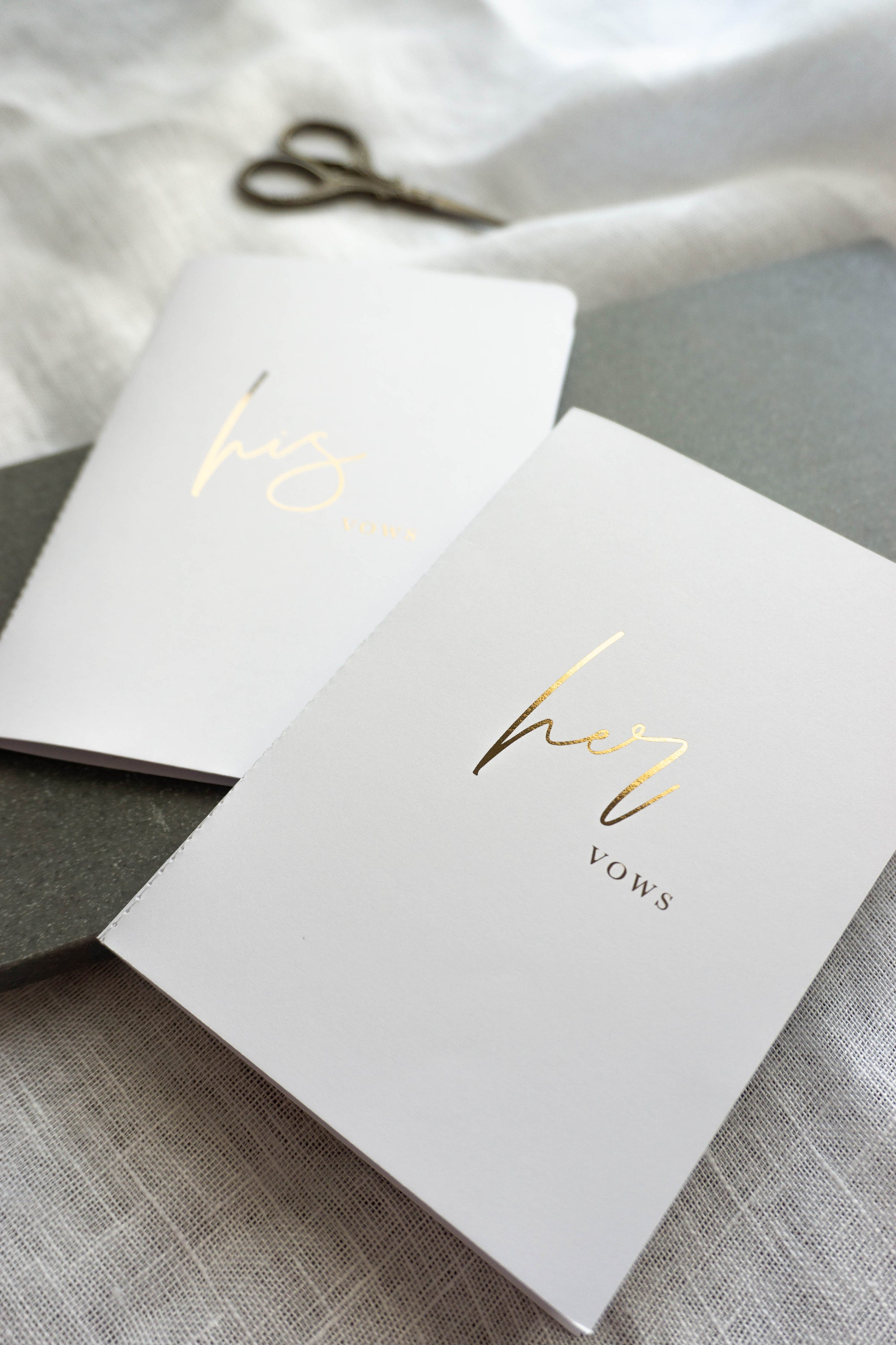 White & Gold Vow Book set