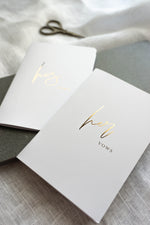 Load image into Gallery viewer, White & Gold Vow Book set