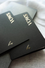 Load image into Gallery viewer, Black & Gold Vow Book set
