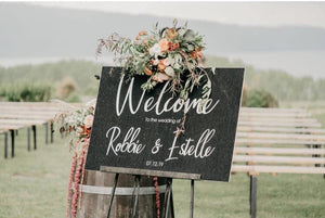 Printed Welcome Sign