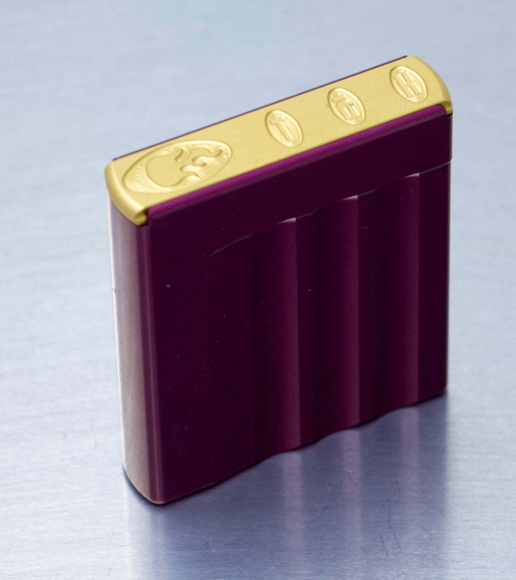 'Stache' tin - Purple