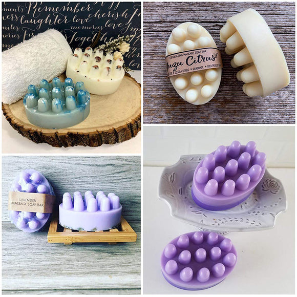 4 Cavity Silicone Soap Mold