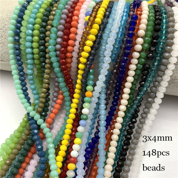 Crystal Roundel Beads