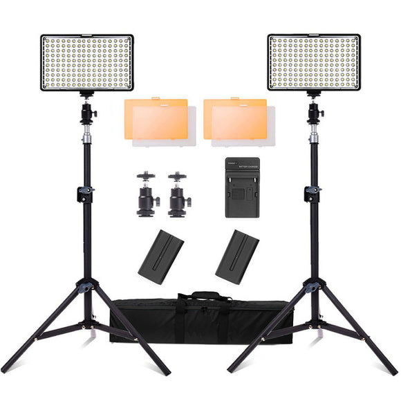 Spash TL-160S LED Video Light Set with Tripod Stand