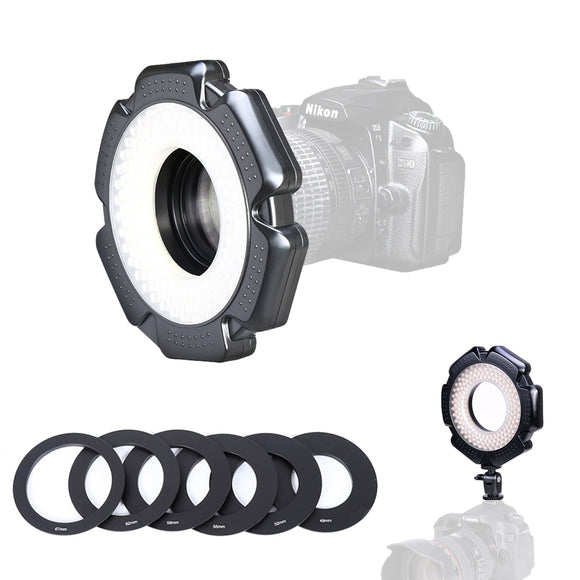Video Ring Light Dimmable with Adapter Rings