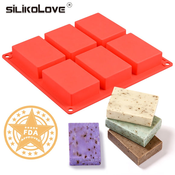 6 Cavity Silicone Handmade Soap Mold