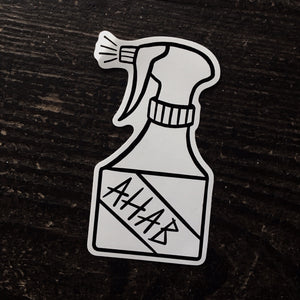 AHAB vinyl shaped sticker