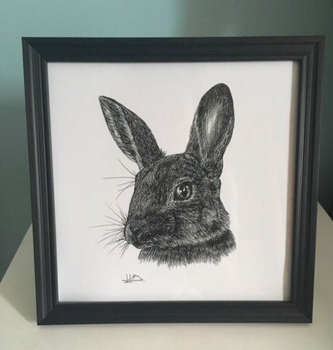 Hunted Rabbit Print