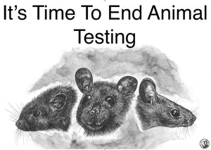 "A2 Activism Placard ""It's Time To End Animal Testing"""