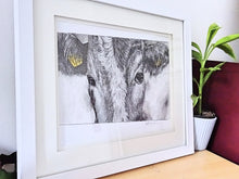 Load image into Gallery viewer, Original Framed Yellow Tag Cow unnumbered