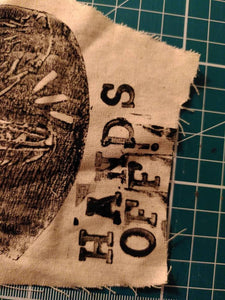 Hands off cloth patch print