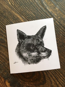 Hunted Fox Card
