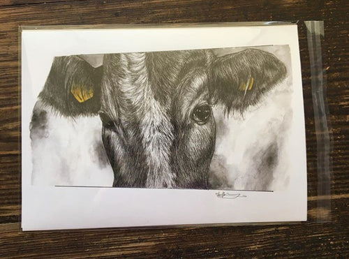 Yellow Tag Cow unnumbered Giclée Art Print