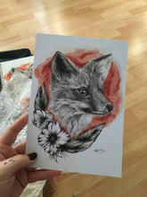 Load image into Gallery viewer, A5 Fox print
