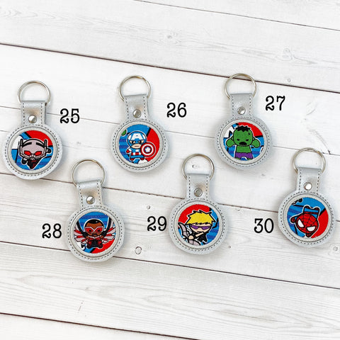 Mini Keyrings - Superheroes