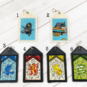 Luggage Tags - Magical Critters and Houses
