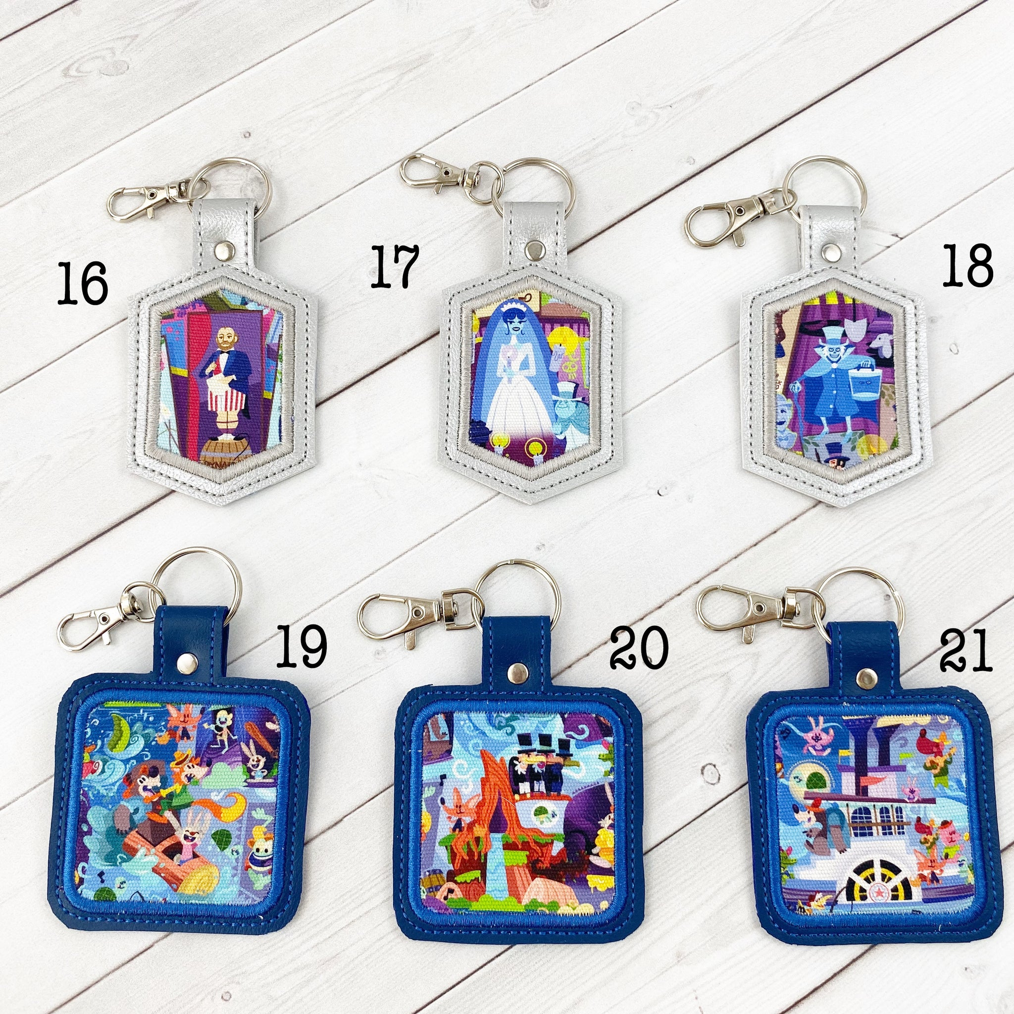 Keyrings - Ghost Ride and Critter Log Flume